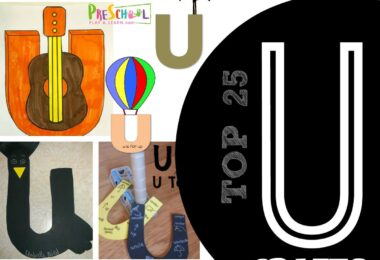 TOP 25 Letter U Crafts - so many clever alphabet crafts for kids from toddler, preschool, and kindergarten ate kids for a letter of the week unit for umbrella , unicorn, up, underground, underwater, united states, and more #alphabet #craftsforkids #preschool