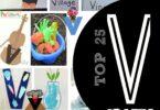 TOP 25 Letter V Crafts - lots of letter v crafts for toddler, preschool, and kindergarten age kids crafts for a letter of the week unit #alphabet #preschool #craftsforkids