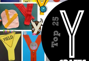 TOP 25 Letter Y Crafts - kids will have fun with these adorable crafts for kids perfect for your next letter of the week unit for toddler, preschool, kindergarten #alphabet #craftsforkids #preschool