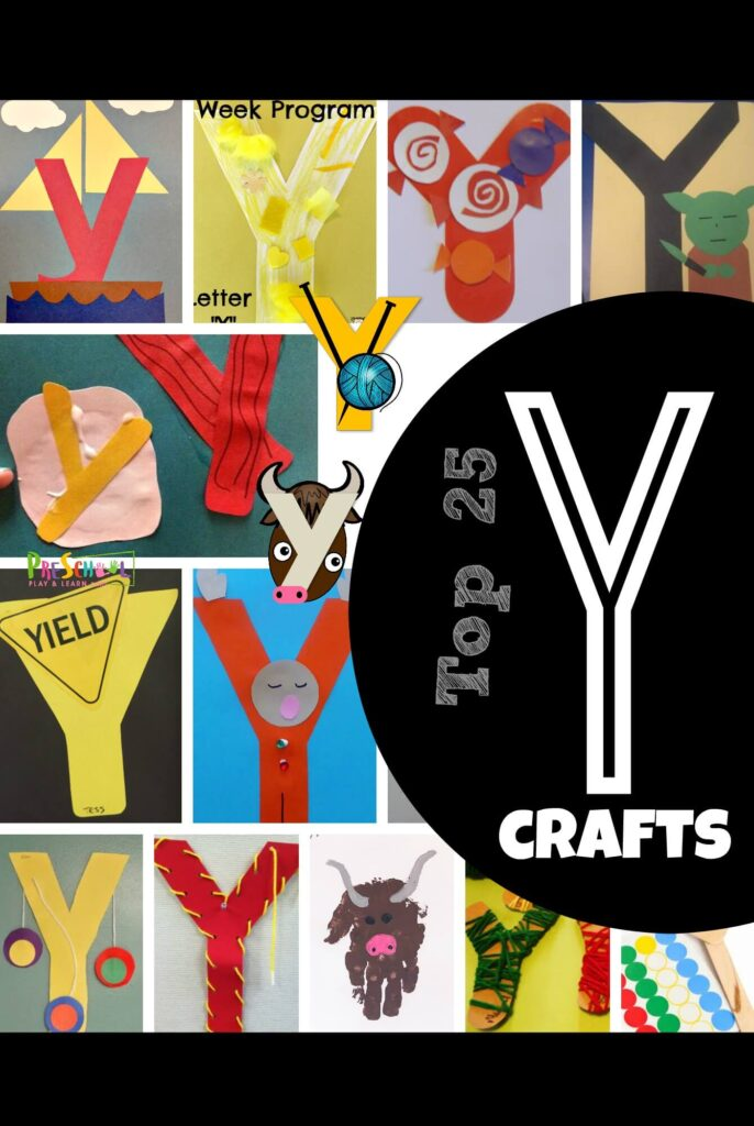 Help kids learn their ABCs with these adorable letter y crafts! We have found so many easy-to-make and unique letter y preschool crafts for pre-k, kindergarten, toddler, and first grade students. These upper and lowercase y alphabet crafts are great for working on letter recognition too! We have so many letter y craft ideas including y is for yacht, yellow, yo-yo, yoda, yak, yield, yawn, yum, yarn, and more!