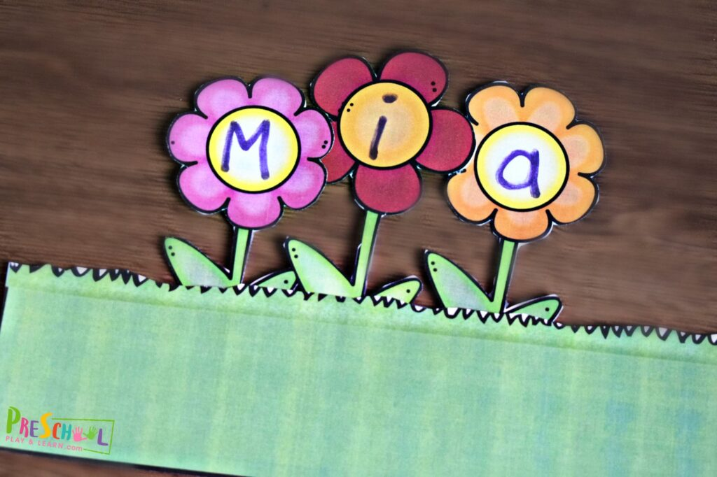 This is such a fun spring or summer name recognition activity.