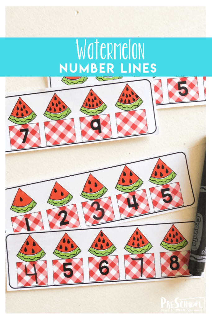 Number Line to 10 perfect for summer math