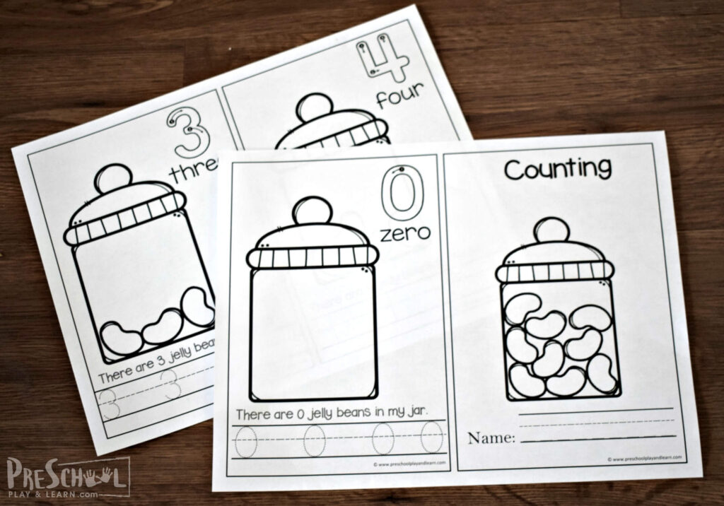 Kids will love practicing counting jelly beans with this simple printable emergent reader.