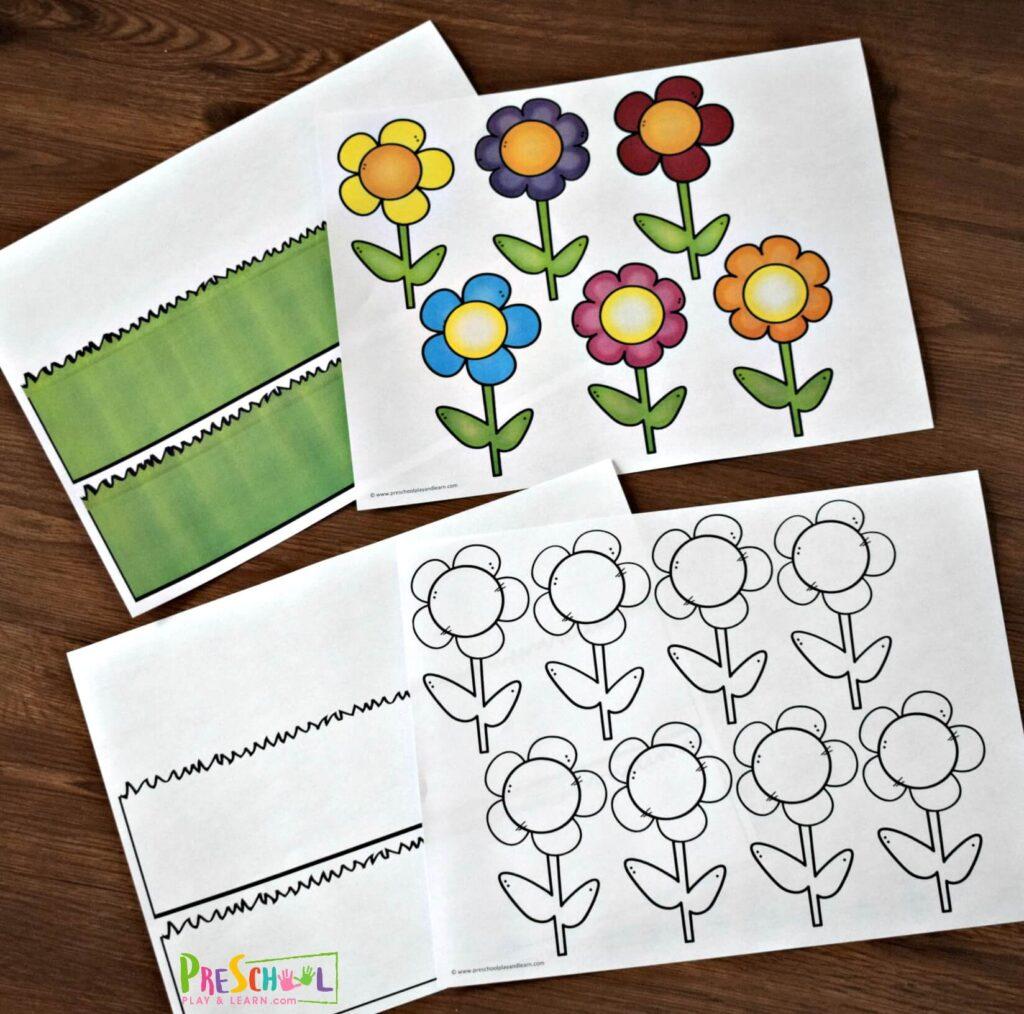 Printable Name Flower Craft