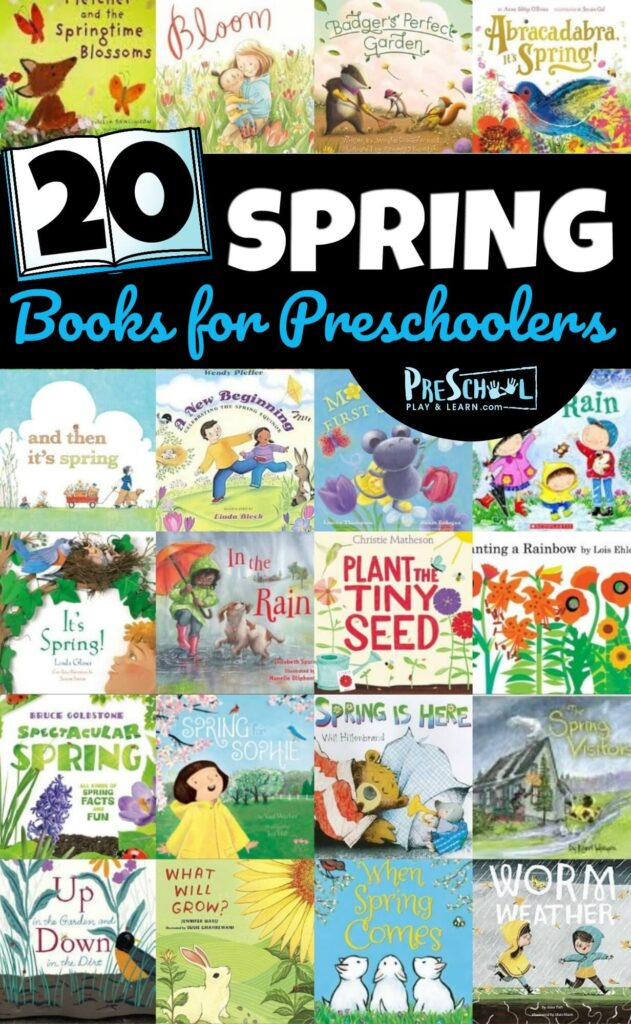 20 Spring Books for Preschoolers - lots of fun picture books for toddler, preschool and kindergarten age kids to celebrate spring time! #preschool #preschoolers #booklist