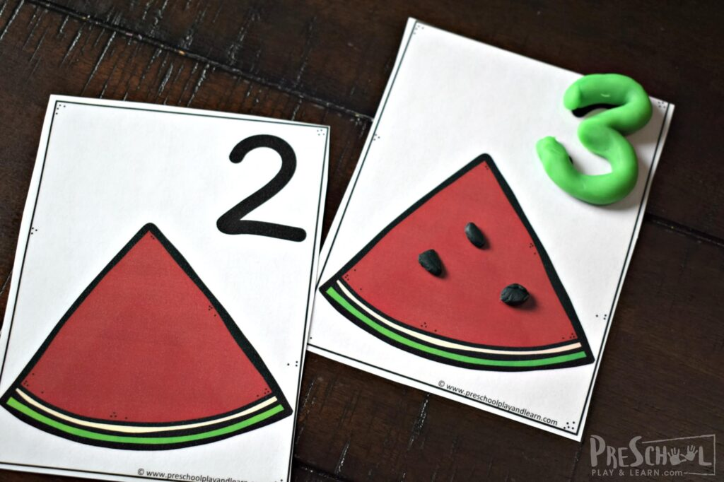 Fun, educational watermelon activity for preschoolers