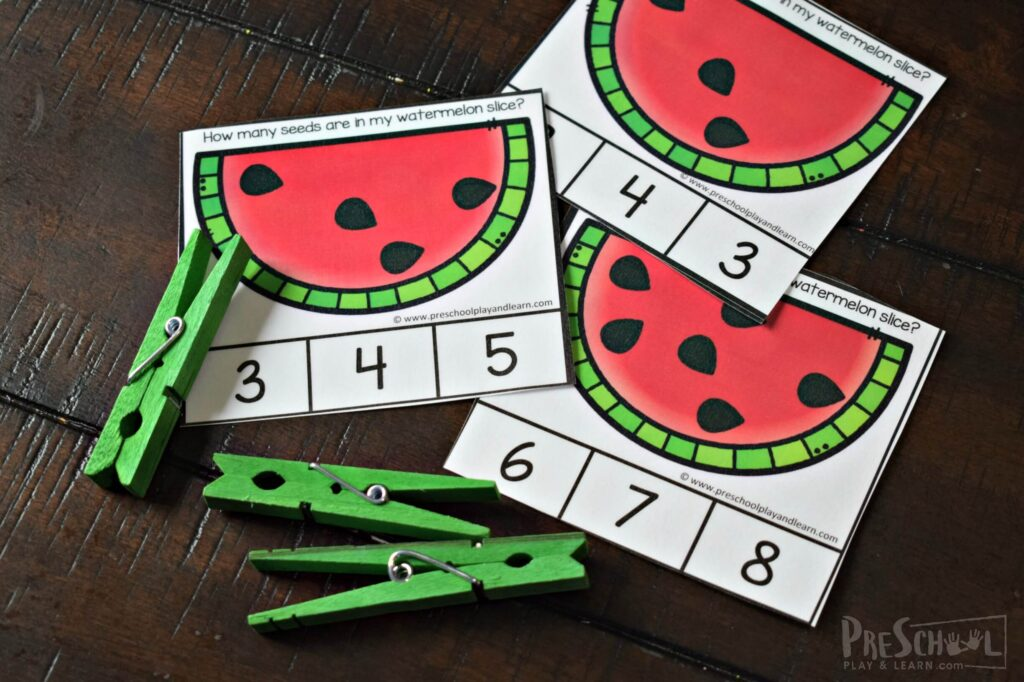 Watermelon Printable for counting