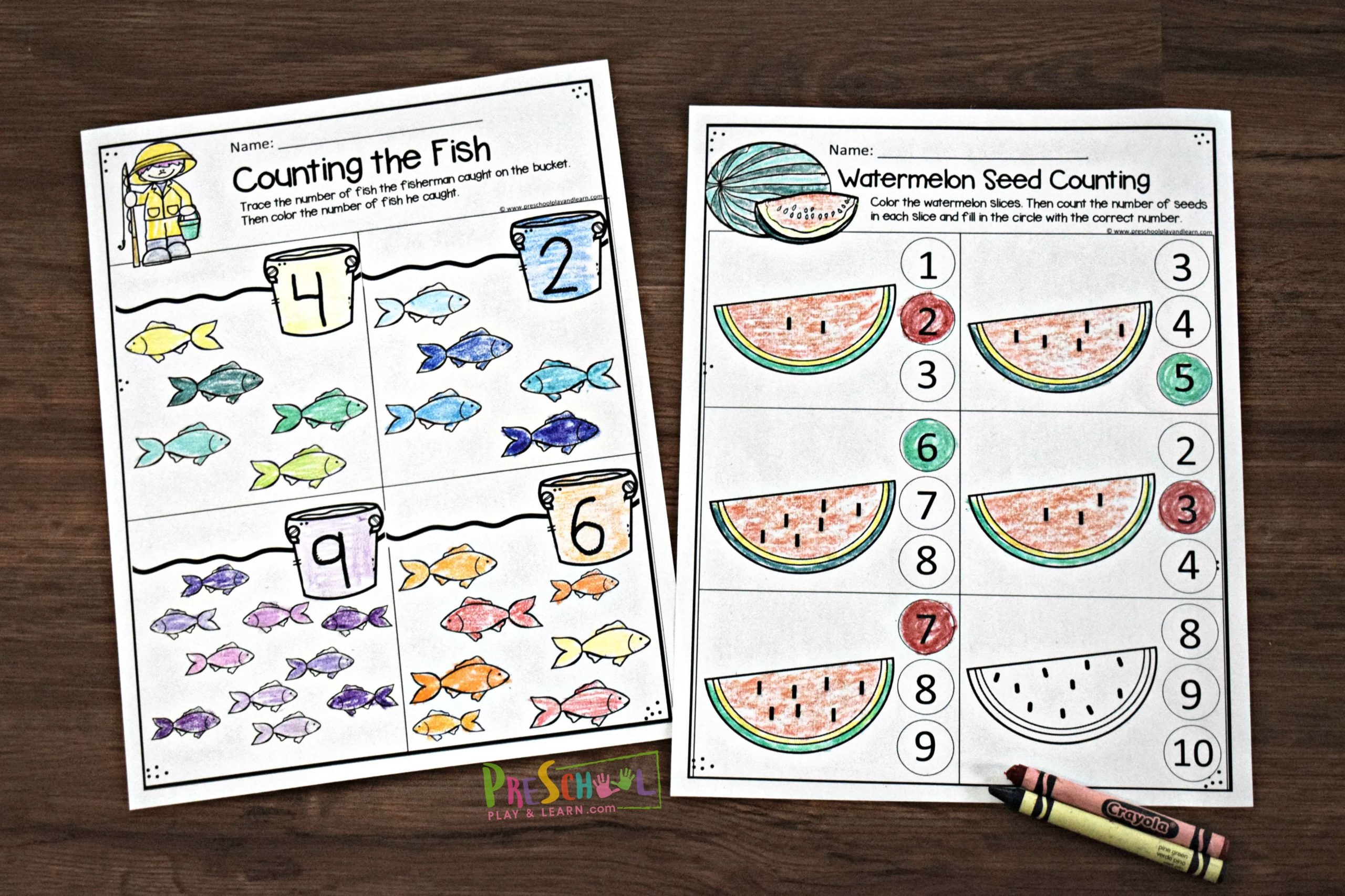 Free Summer Math Worksheets For Preschool - View Kindergarten Pre K Math Worksheets PNG