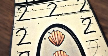 Young learners will have fun counting seashells in this summer math activity for preschoolers and kindergartners.