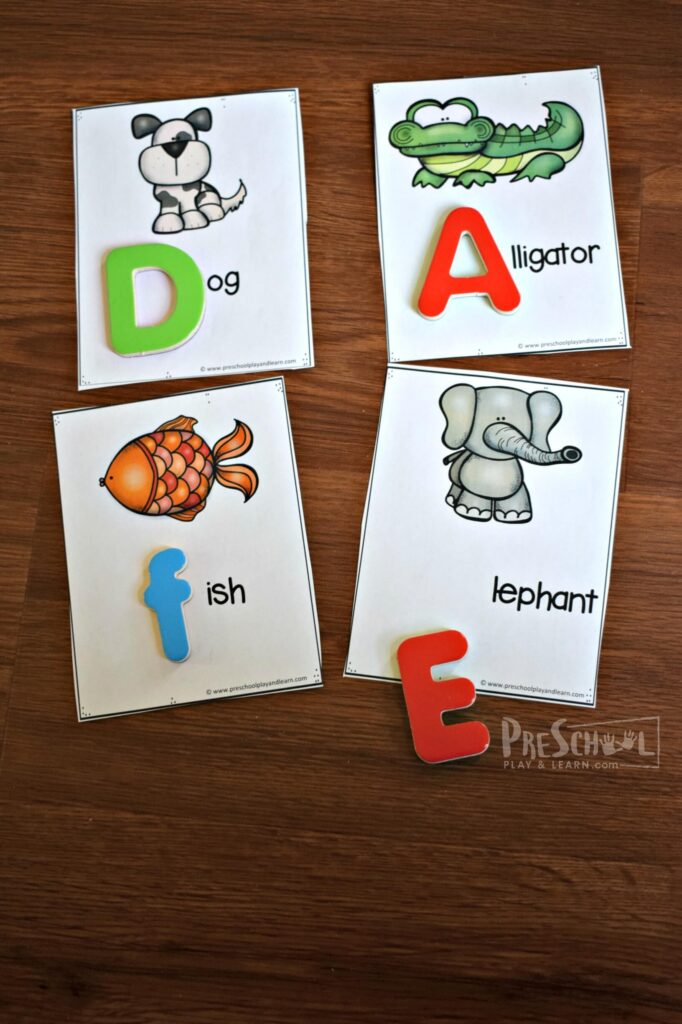 Free printable alphabet cards for prek and kindergarten