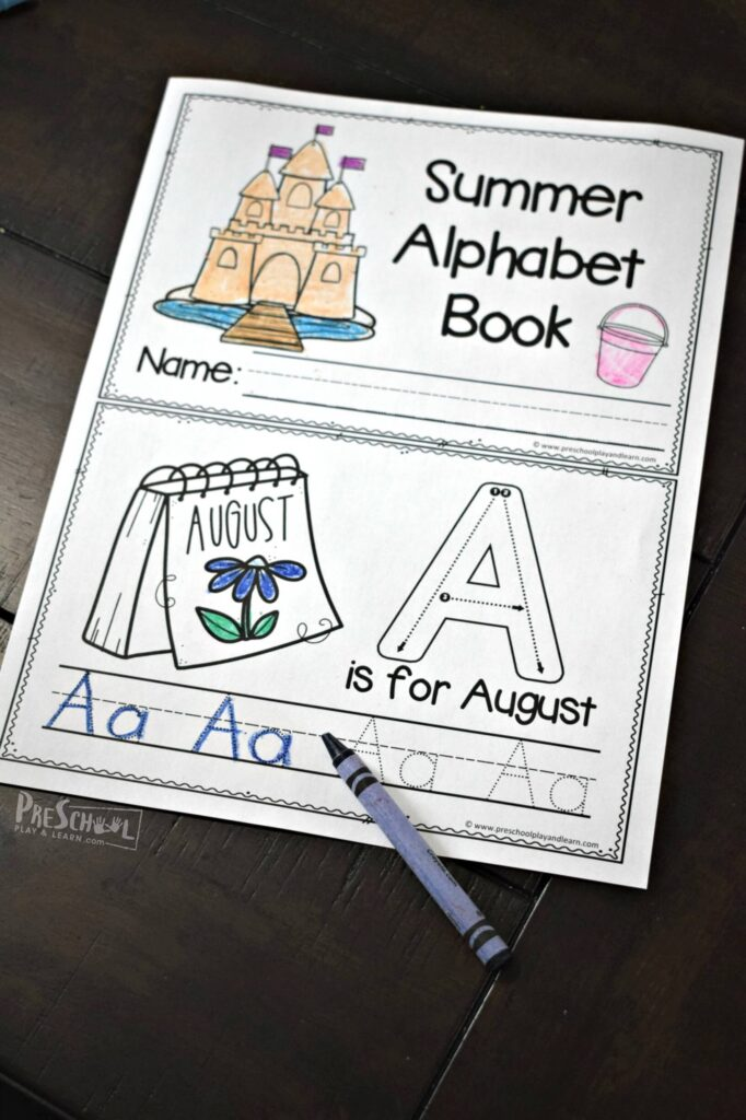 These alphabet letter practice sheets are a fun way for preschoolers and kindergartners.