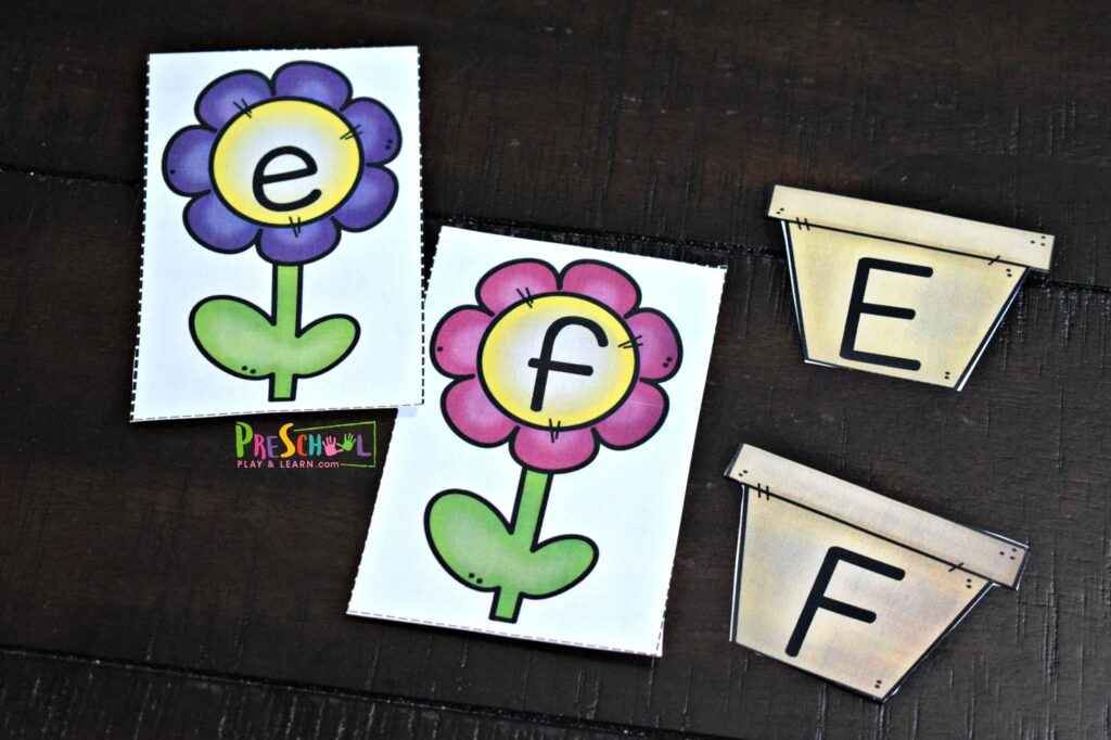 Super cute alphabet matching activity for preschoolers and kindergartners.