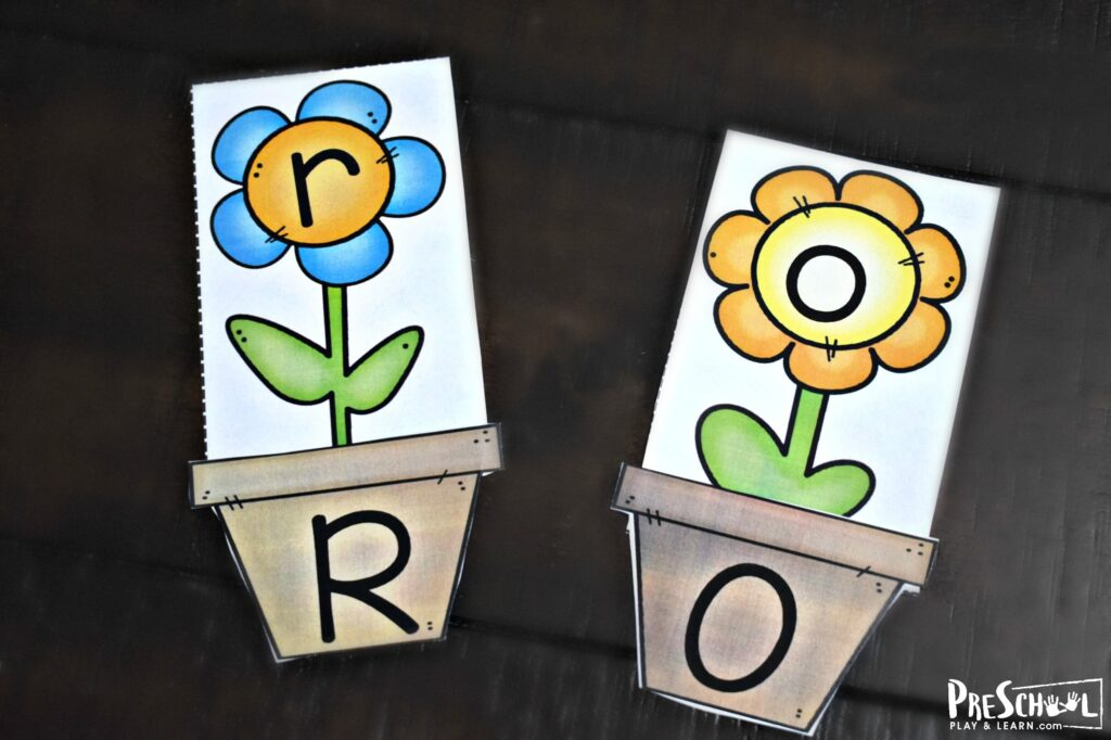 Super cute summer or spring themed flower alphabet puzzles