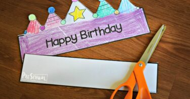 super cute free printable birthday party hats