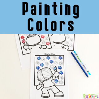 Learn colors for kids with these free printable color worksheets for toddler, preschool, and kindergarten age kids.