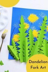 dandelion fork flower craft idea