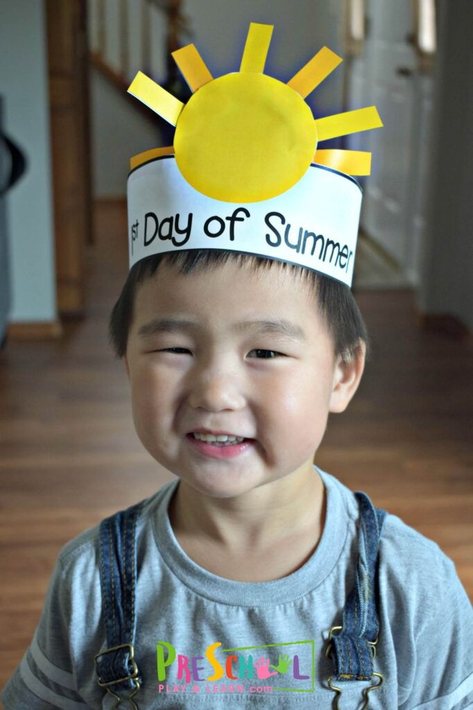 Super cute first day of summer craft for kids