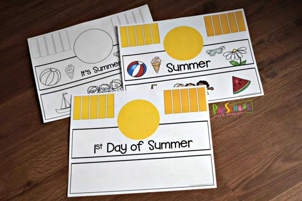 This first day of summer craft is super cute and easy to make with toddler, preschool, and kindergarten age kids.