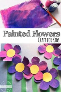 flower craft preschool