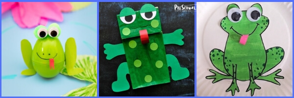 Super cute and fun-to-make frog crafts for kids