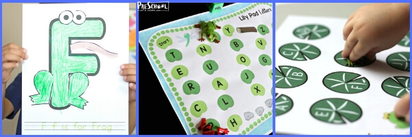 Super cute and interactive frog literacy activities for preschool age kids