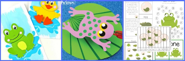 Free frog printables for kids