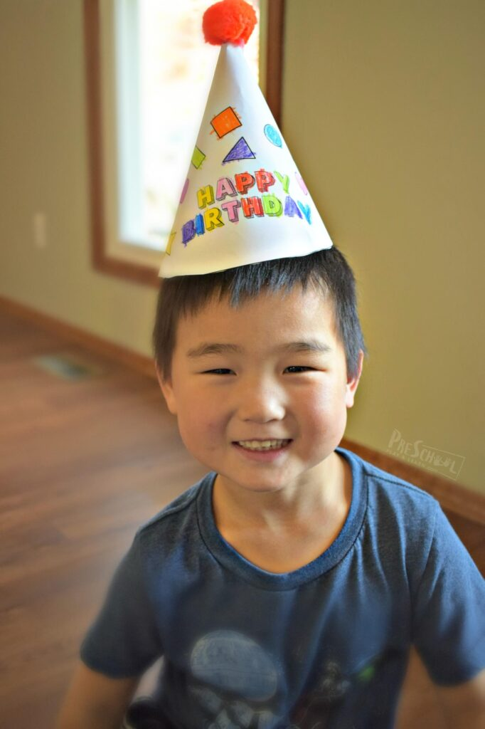 Kids will have fun celebrating their half birthday with these free printable 1/2 birthday hats
