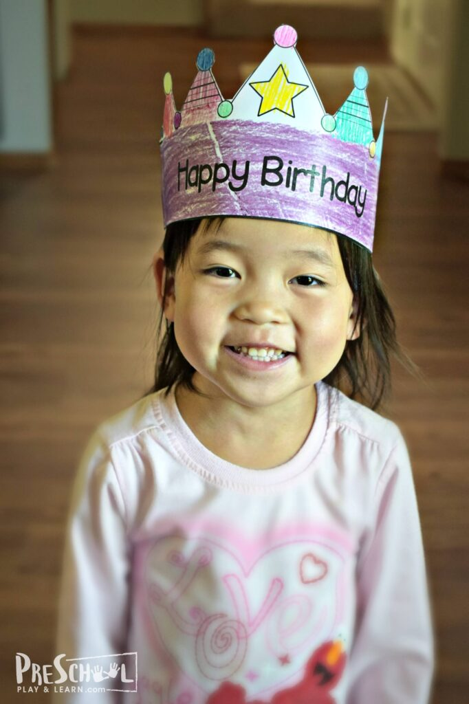 super cute happy birthday hats for toddler, preschool and kindergarten age kids