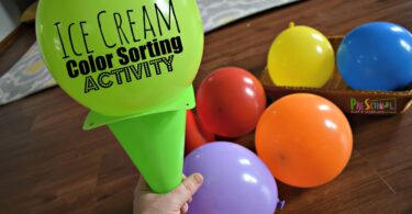 Ice Cream Color Sorting Activity for Preschoolers