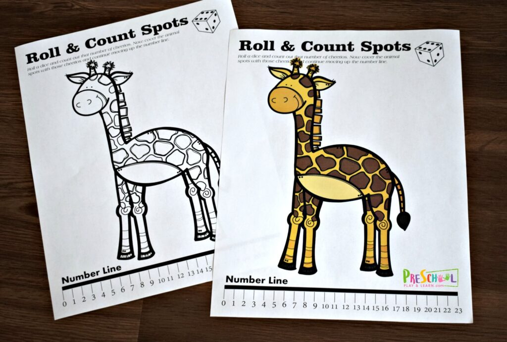 Free printable math activity for preschoolers to practice counting