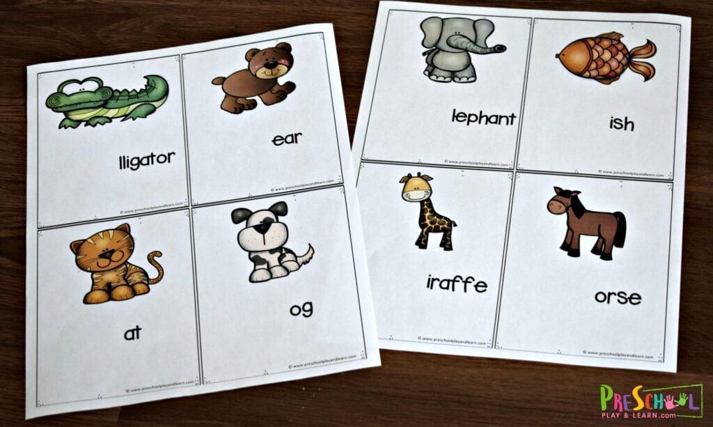 Super cute phonics activity for preschool and kindergarten age kids