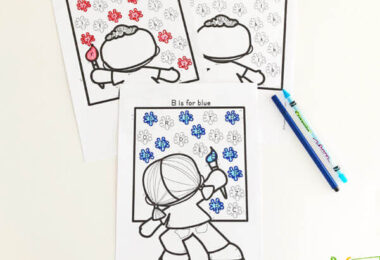Learn the basic preschool colors with these free printable worksheets