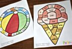 Several free printable summer board games to practice preschool sight words