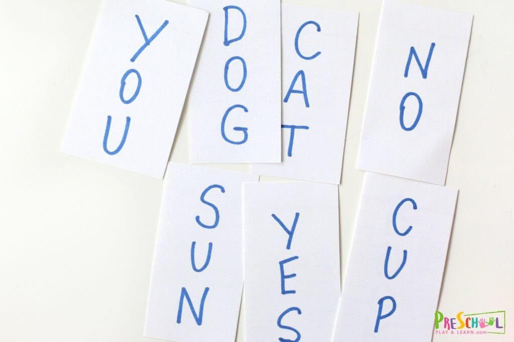 simple and fun preschool spelling activity