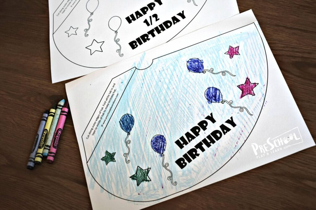 printable party hats for kids