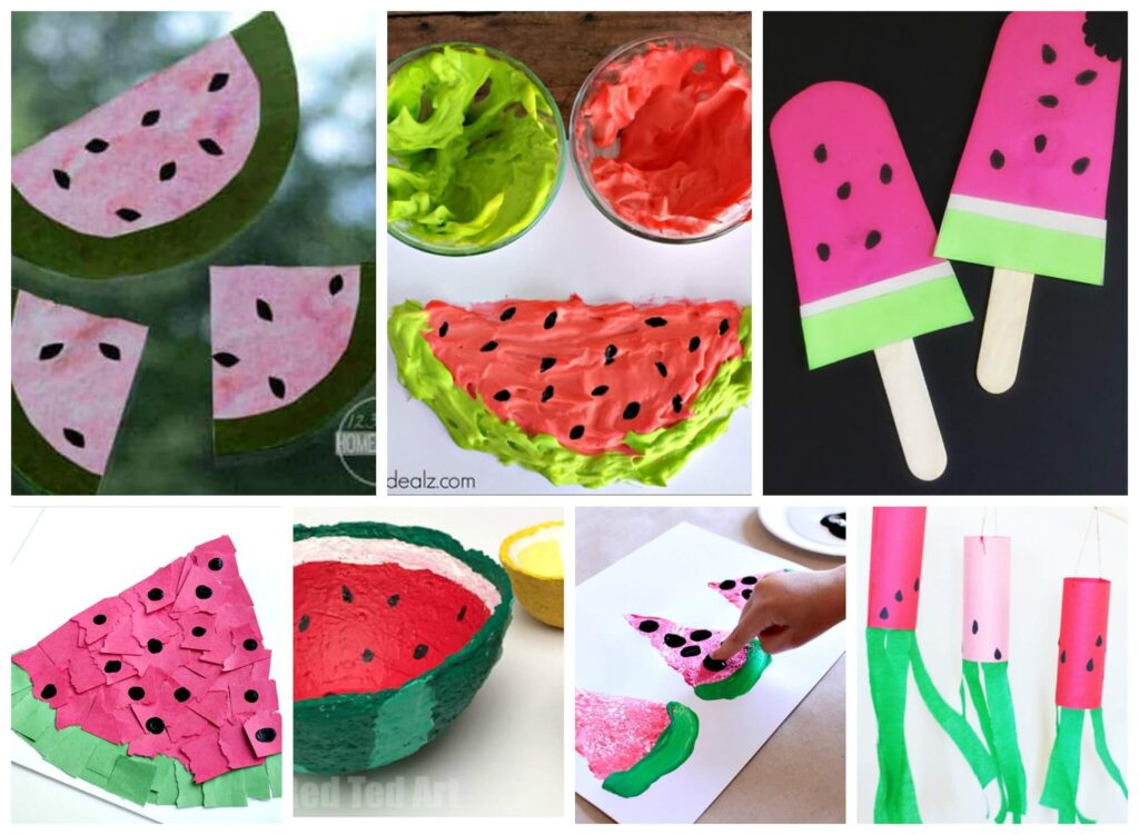Super cute and clever watermelon crafts for kids of all summer to make this summer