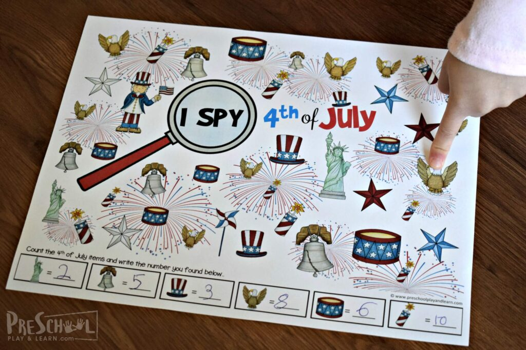 free printable 4th of july games for kids to print and play