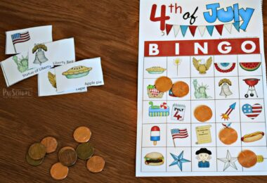 Fun, free printable 4th of July games for families to play together
