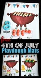 4th of july playdough mats