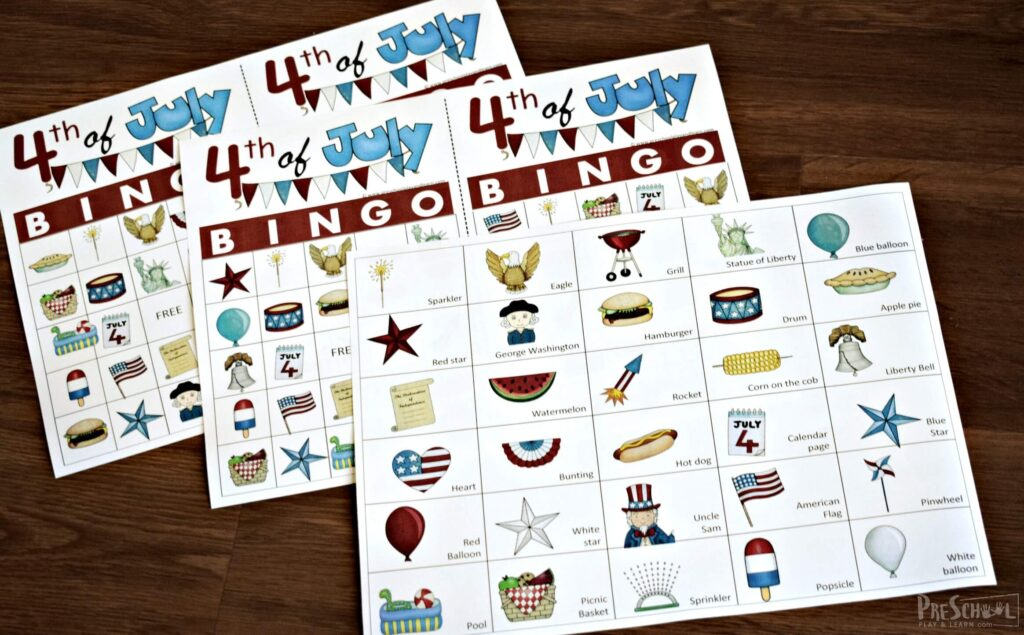4th of july printable game