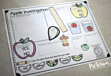 Easy Science Experiments to do with an apple for fall, September and back to school