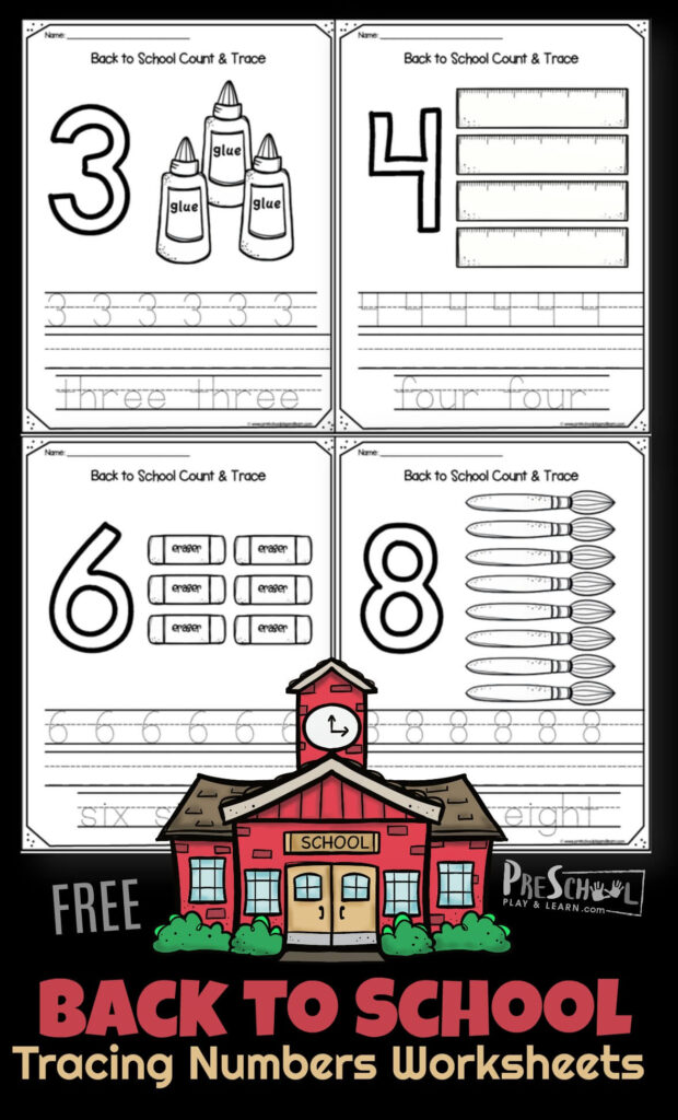 FREE First Day of School Printables perfect for practicing writing numbers 1-10