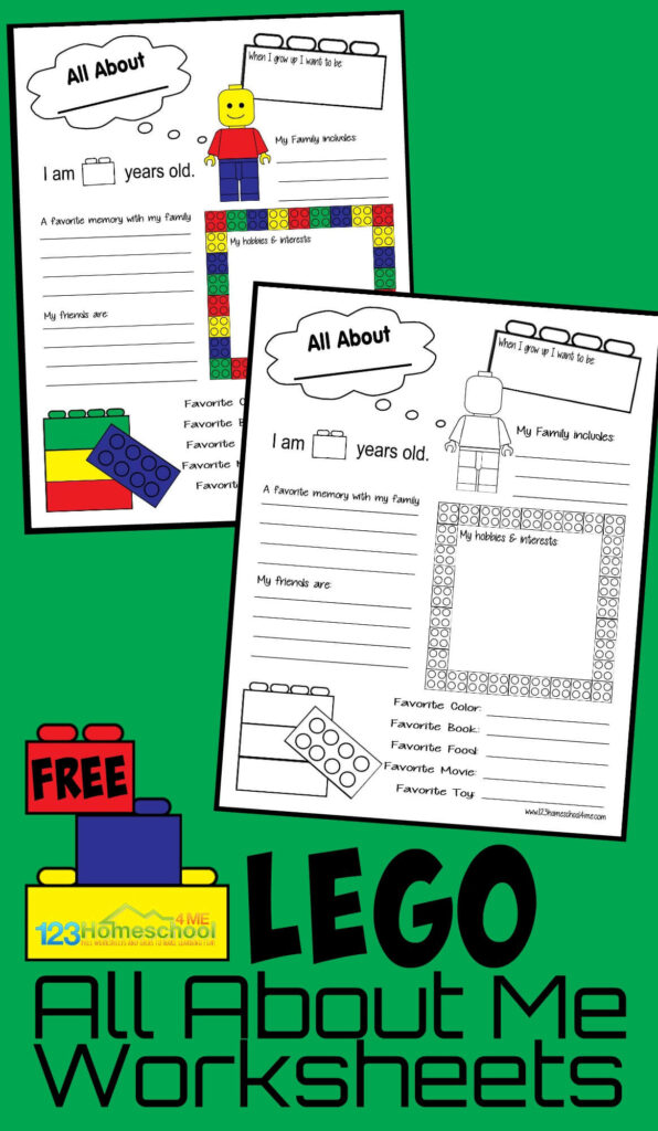 FREE Lego All About Me Printable