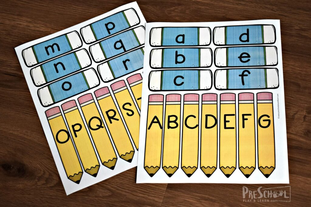 Super cute free alphabet printable perfect for the first day of school