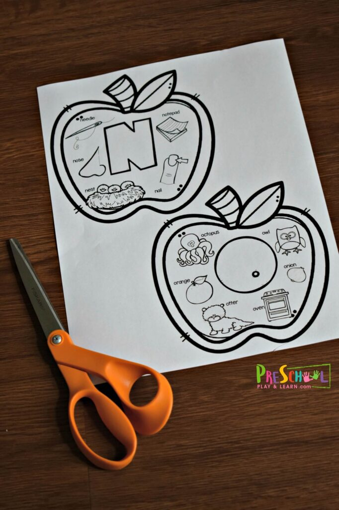 A Is For Apple Printable Book Beginning Sounds