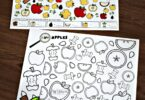 FREE Apple I Spy Preschool Game - super cute math activity for preschoolers to practice counting to 10 and counting to 20 while working on visual discrimination with an apple theme #appletheme #preschool #counting