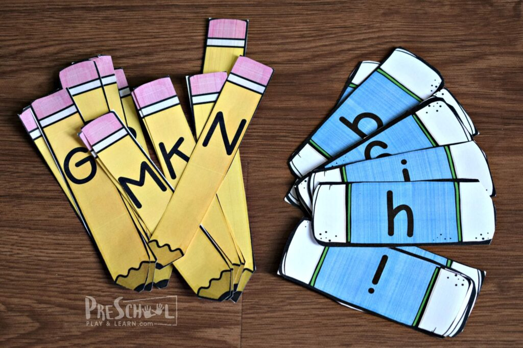 This is such a fun, hands on back to school abc activity for preschool and kindergarten age kids