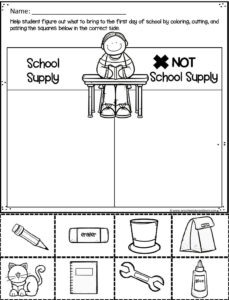 picture regarding Back to School Printable Worksheets named Free of charge Again toward University Worksheets Preschool Participate in and Discover