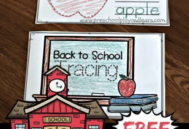 FREE Back to School Tracing Worksheets - super cute first day of school activity to help kids improve motor skills while tracing school supplies #preschool #prek #backtoschool