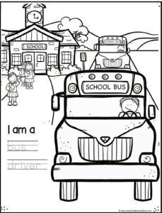 community helper worksheets for bus driver